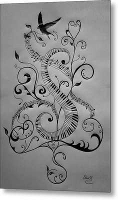 Music Equals Life Metal Print by Christopher Kyle