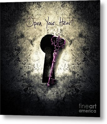 Music Gives Back - Open Your Heart Metal Print by Unknow