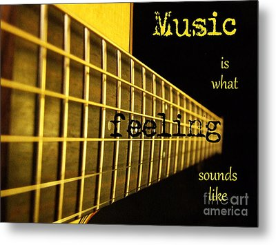 Music Is Metal Print by Andrea Anderegg
