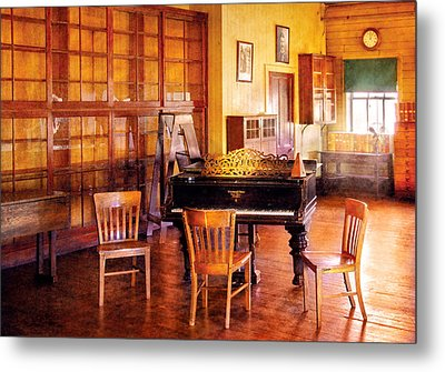 Music - Piano - Ready For Piano Lessons Metal Print by Mike Savad