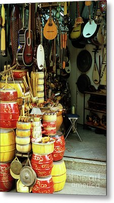 Music Shop Metal Print by Rick Piper Photography