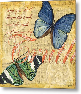 Musical Butterflies 3 Metal Print by Debbie DeWitt