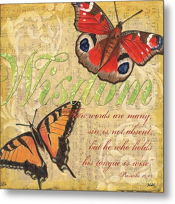 Musical Butterflies 4 Metal Print by Debbie DeWitt