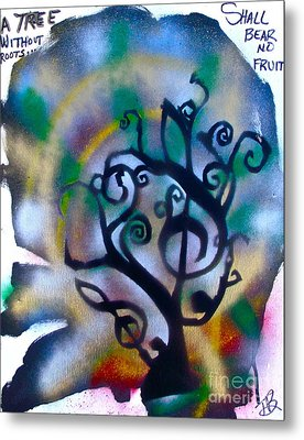 Musical Tree Blue Metal Print by Tony B Conscious