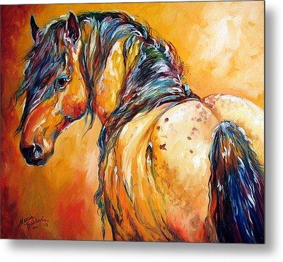 Mustang Appaloosa Metal Print by Marcia Baldwin