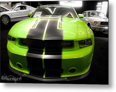 Mustang Love Metal Print by Guinapora Graphics