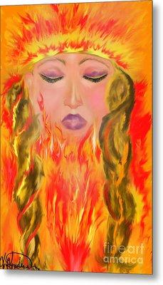 My Burning Within Metal Print by Lori  Lovetere