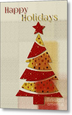My Christmas Tree - Happy Holidays Greeting Card Metal Print by Aimelle