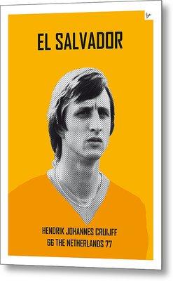 My Cruijff Soccer Legend Poster Metal Print by Chungkong Art