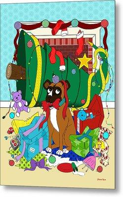My Dog Ate Christmas Metal Print by Shawna  Rowe