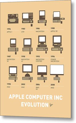 My Evolution Apple Mac Minimal Poster Metal Print by Chungkong Art