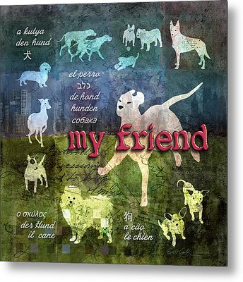 My Friend Dogs Metal Print by Evie Cook