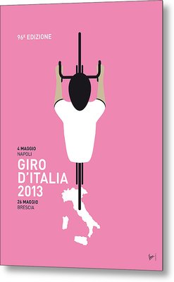 My Giro D'italia Minimal Poster Metal Print by Chungkong Art