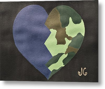 My Heart Metal Print by Jessica Cruz