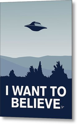 My I Want To Believe Minimal Poster-xfiles Metal Print by Chungkong Art