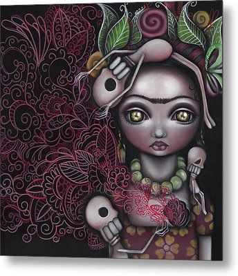 My Inner Feelings Metal Print by  Abril Andrade Griffith