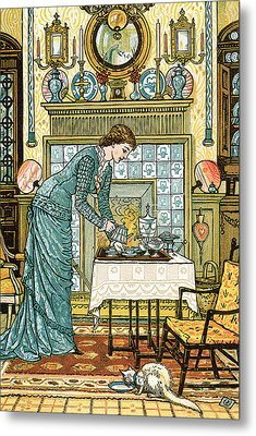 My Lady's Chamber Metal Print by Walter Crane