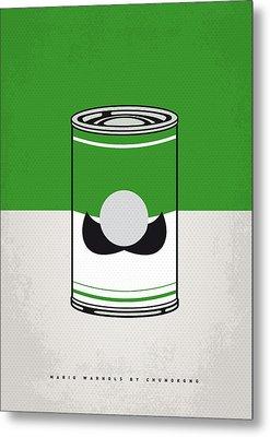 My Mario Warhols Minimal Can Poster-luigi Metal Print by Chungkong Art
