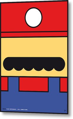 My Mariobros Fig 01 Minimal Poster Metal Print by Chungkong Art
