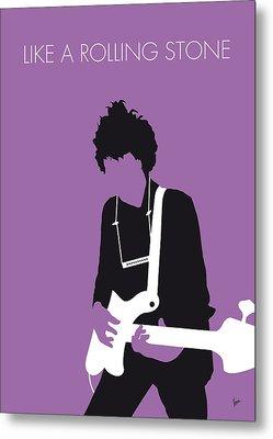 No001 My Bob Dylan Minimal Music Poster Metal Print by Chungkong Art