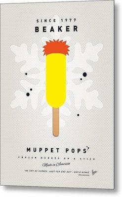 My Muppet Ice Pop - Beaker Metal Print by Chungkong Art