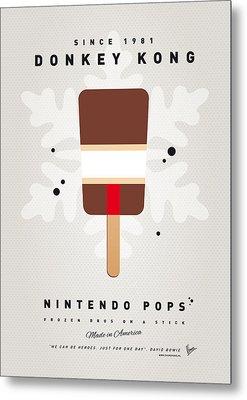 My Nintendo Ice Pop - Donkey Kong Metal Print by Chungkong Art