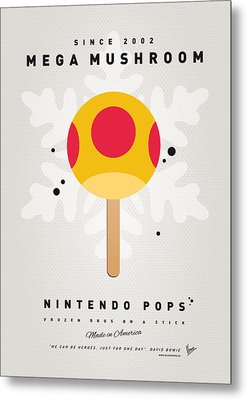 My Nintendo Ice Pop - Mega Mushroom Metal Print by Chungkong Art