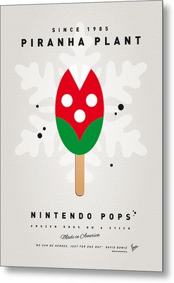 My Nintendo Ice Pop - Piranha Plant Metal Print by Chungkong Art