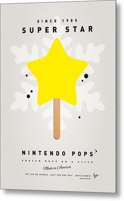 My Nintendo Ice Pop - Super Star Metal Print by Chungkong Art