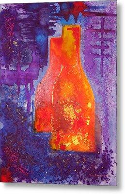 My Old Wine Bottles Metal Print by Mario Perez