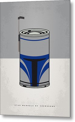 My Star Warhols Jango Fett Minimal Can Poster Metal Print by Chungkong Art