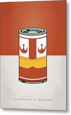 My Star Warhols Luke Skywalker Minimal Can Poster Metal Print by Chungkong Art