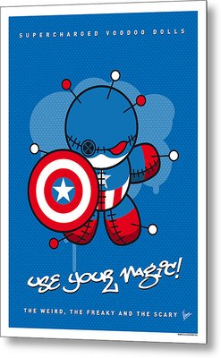 My Supercharged Voodoo Dolls Captain America Metal Print by Chungkong Art