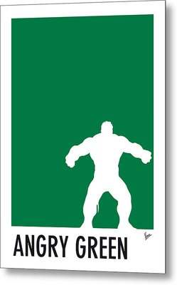 My Superhero 01 Angry Green Minimal Poster Metal Print by Chungkong Art