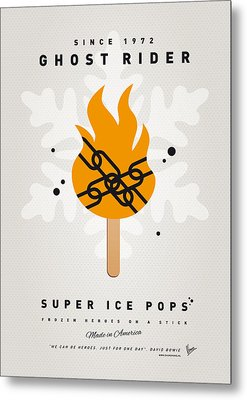 My Superhero Ice Pop - Ghost Rider Metal Print by Chungkong Art
