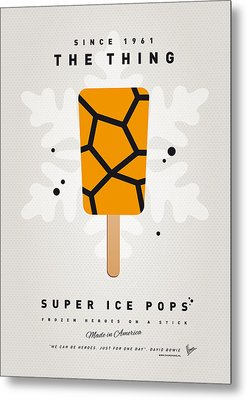 My Superhero Ice Pop - The Thing Metal Print by Chungkong Art