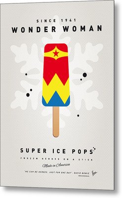My Superhero Ice Pop - Wonder Woman Metal Print by Chungkong Art