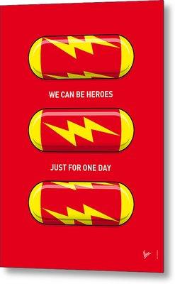 My Superhero Pills - The Flash Metal Print by Chungkong Art