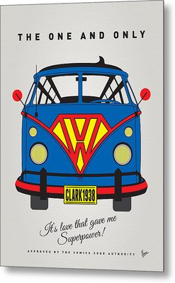 My Superhero-vw-t1-superman Metal Print by Chungkong Art