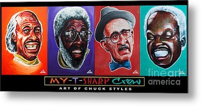 My-t-sharp Crew Metal Print by Charles Edwards