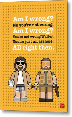 My The Big Lebowski Lego Dialogue Poster Metal Print by Chungkong Art