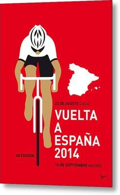 My Vuelta A Espana Minimal Poster 2014 Metal Print by Chungkong Art