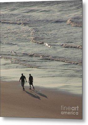 Myrtle Beach Walking Buddies Metal Print by Gail Matthews
