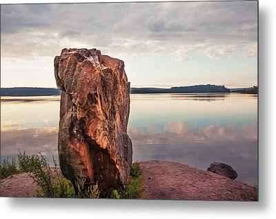 Mysterious Stone. Frontier In Between Old And New World Metal Print by Jenny Rainbow