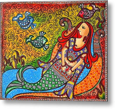 Mystic Mermaid Metal Print by Deepti Mittal