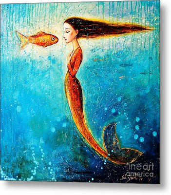 Mystic Mermaid II Metal Print by Shijun Munns