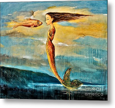 Mystic Mermaid IIi Metal Print by Shijun Munns
