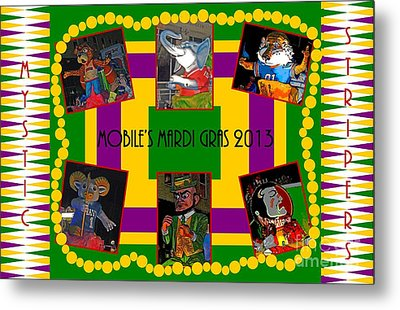 Mystic Stripers Parade Images 2013  Metal Print by Marian Bell