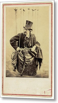 Nadar In The Gondola Of A Balloon 1863 Metal Print by Getty Research Institute