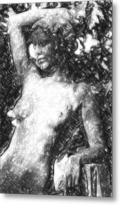 Naked Woman Metal Print by Toppart Sweden